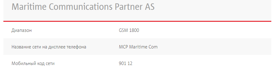 Роуминг на паромах с Maritime Communications Partner AS